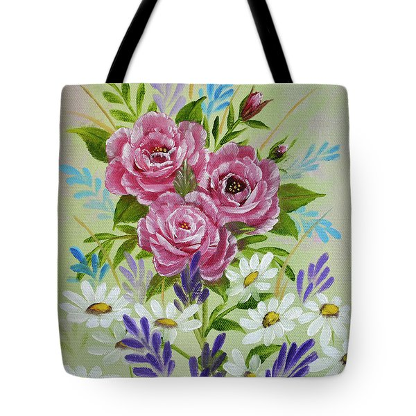 Red Roses Alla Prima Tote Bag by Jimmie Bartlett