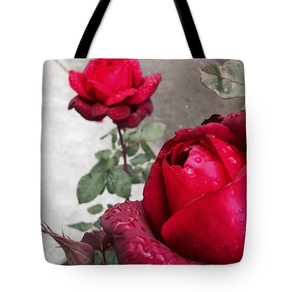 Red Roses Tote Bag by Beverly Johnson