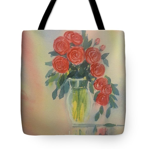 Red Roses For My Valentine Tote Bag