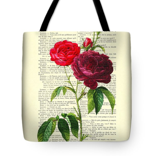Red Roses For Valentine Tote Bag
