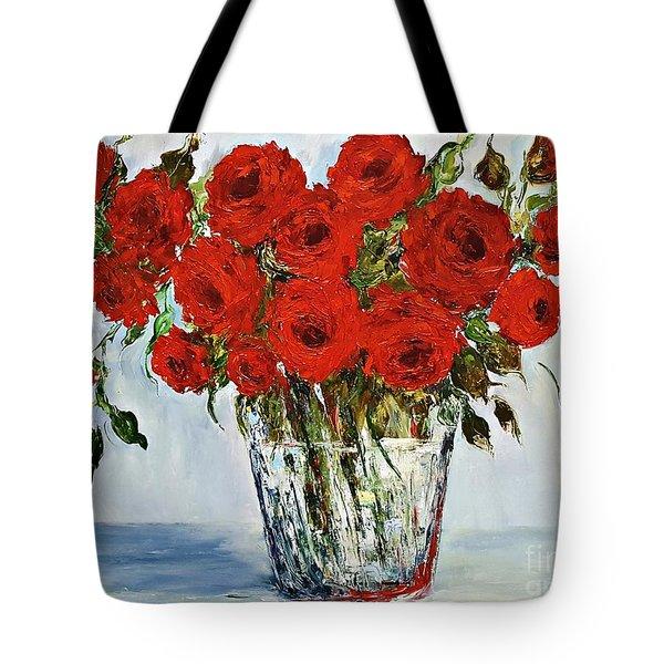 Red Roses Memories Tote Bag