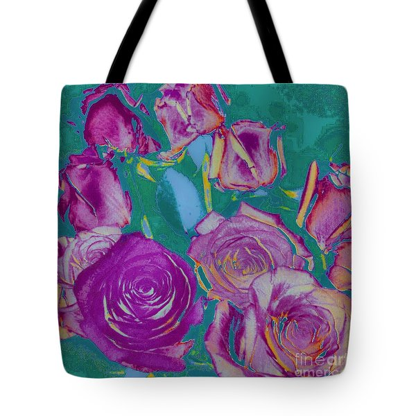Red Roses Tote Bag by Shirley Moravec