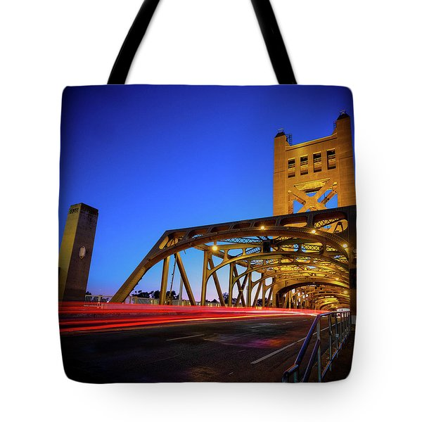 Tote Bag featuring the photograph Red Runner- by JD Mims