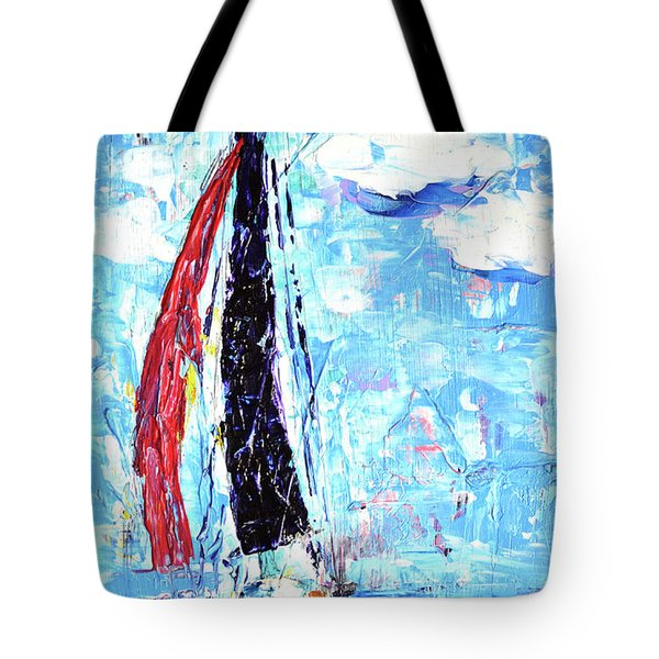 Red Sail Tote Bag