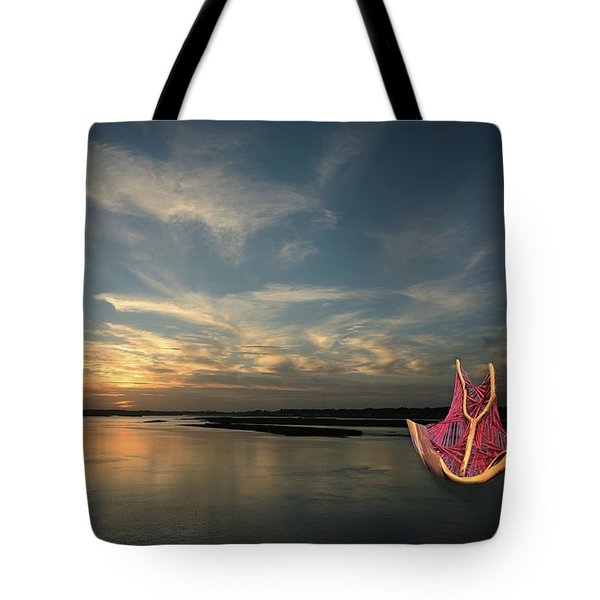 Tote Bag featuring the photograph Red Sails In The Sunset by Carol Lynn Coronios