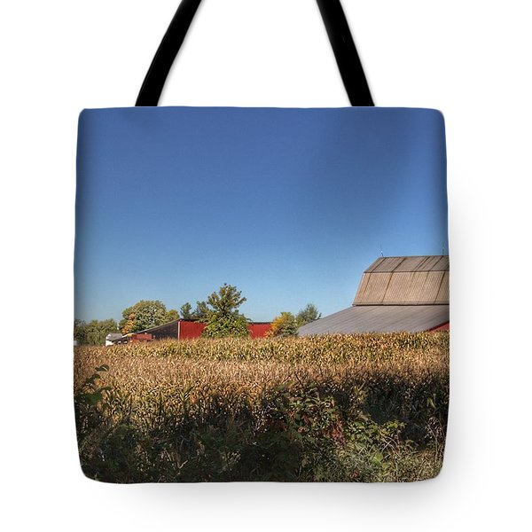 0042 - Red Saltbox Barn Tote Bag