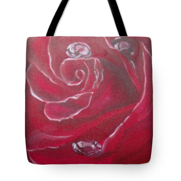 Tote Bag featuring the painting Red by Saundra Johnson