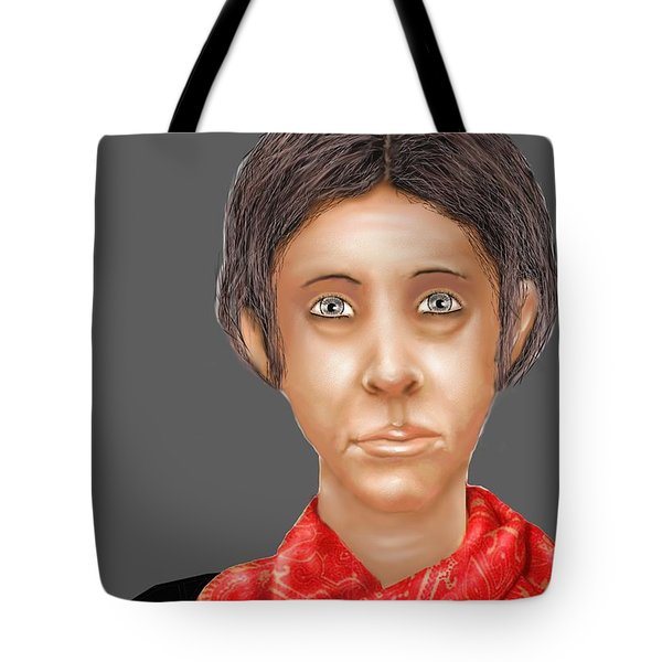 Red Scarf Tote Bag by Kerry Beverly