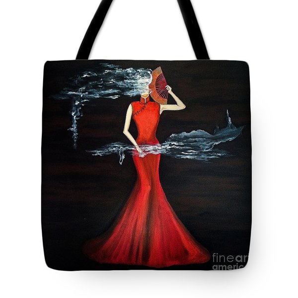 Scented Red Color Tote Bag by Fei A