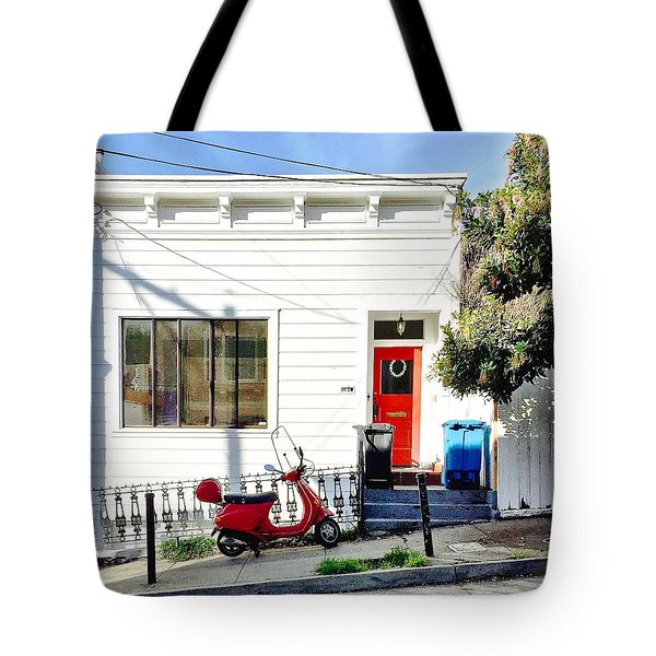 Red Scooter Tote Bag