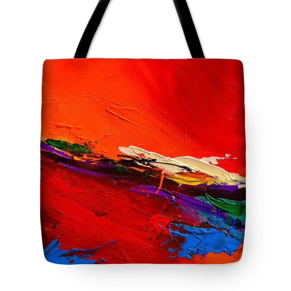 Red Sensations Tote Bag by Elise Palmigiani