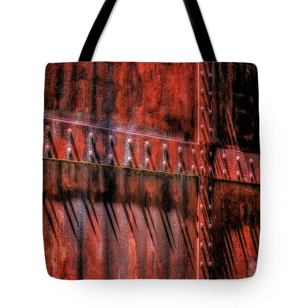 Tote Bag featuring the photograph Red Shadows by James Barber