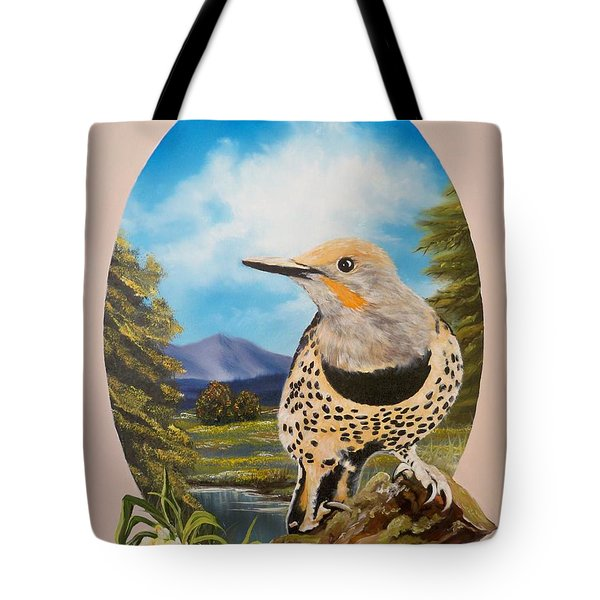 Red Shafted Flicker Tote Bag
