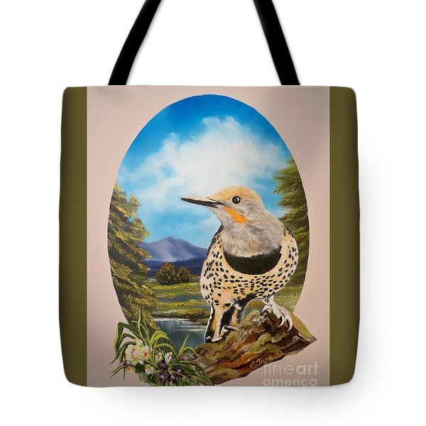 Flying Lamb Productions                       Red Shafted Flicker Tote Bag