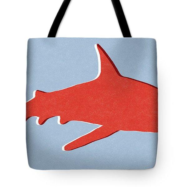 Red Shark Tote Bag