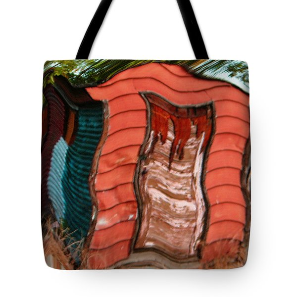Red Shed Tote Bag by Lenore Senior