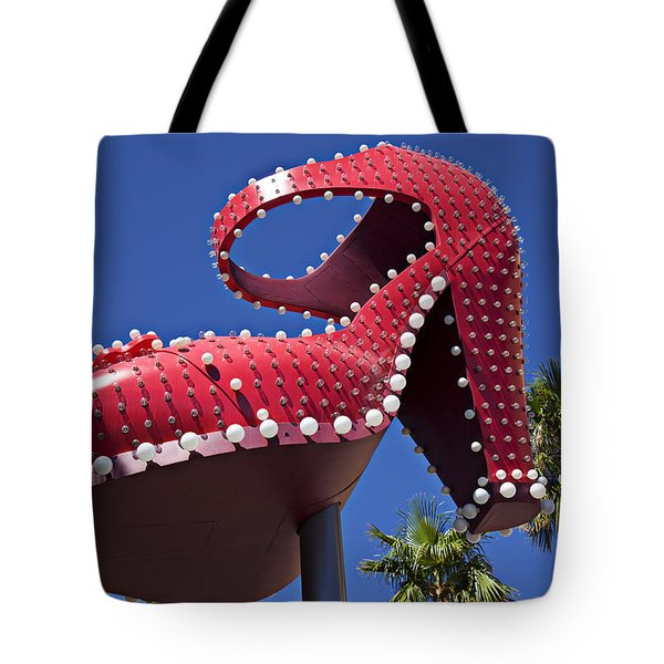 Red Shoe High Heels Tote Bag by Garry Gay