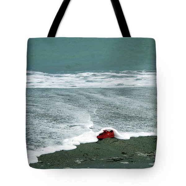 Red Shoe Surf Tote Bag