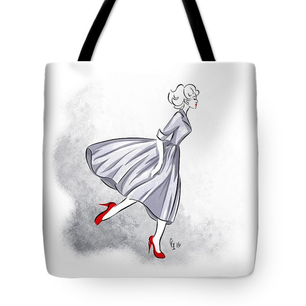 Red Shoes Red Lips Tote Bag
