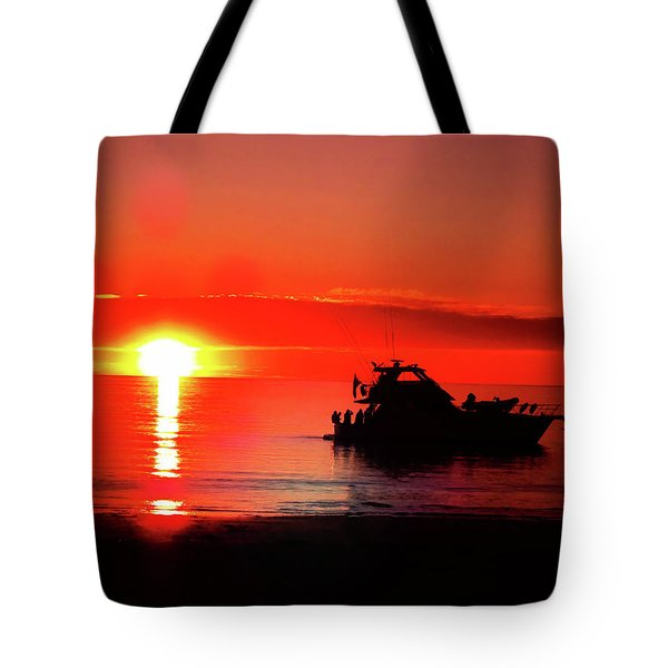 Red Silhouette Tote Bag by Douglas Barnard