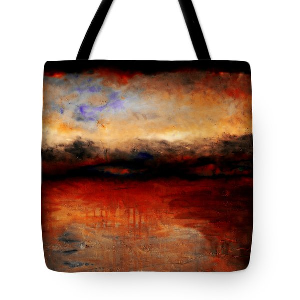 Red Skies At Night Tote Bag by Michelle Calkins