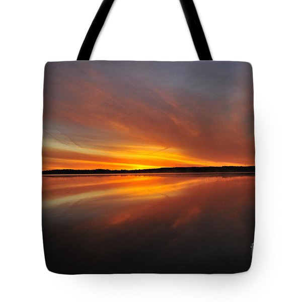 Red Sky At Morning Tote Bag