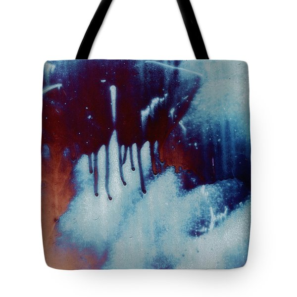 Red Sky At Night Abstract Tote Bag by Lee Craig