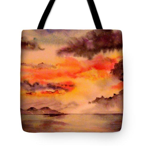Red Sky At Night Tote Bag