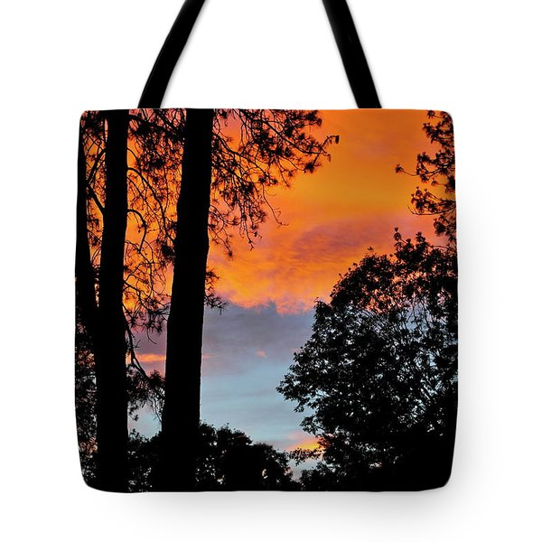 Tote Bag featuring the photograph Red Sky At Night by Michele Myers