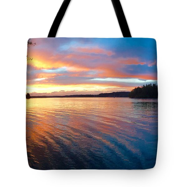 Red Sky At Night Tote Bag by Sean Griffin