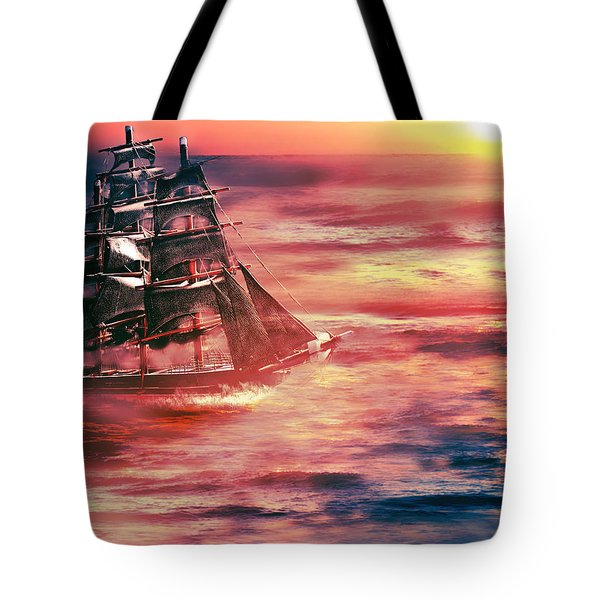 Red Sky In The Morning.... Sailors Take Warning Tote Bag
