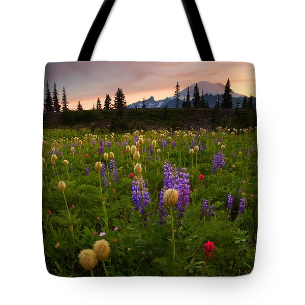 Red Sky Meadow Tote Bag by Mike  Dawson