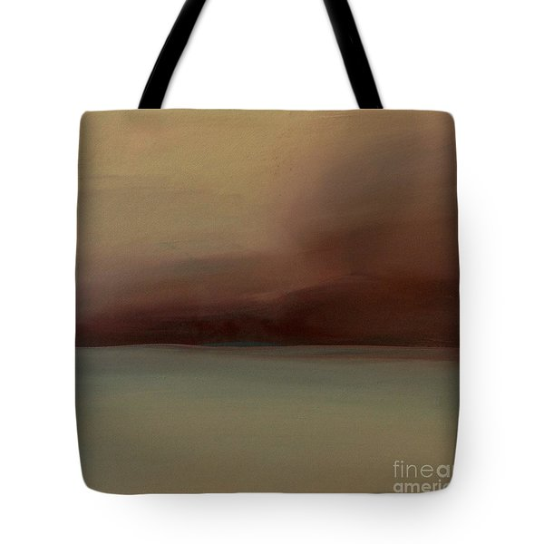 Tote Bag featuring the painting Red Sky by Michelle Abrams