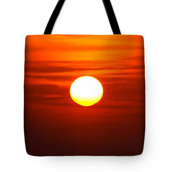 Red Sky Morning Tote Bag