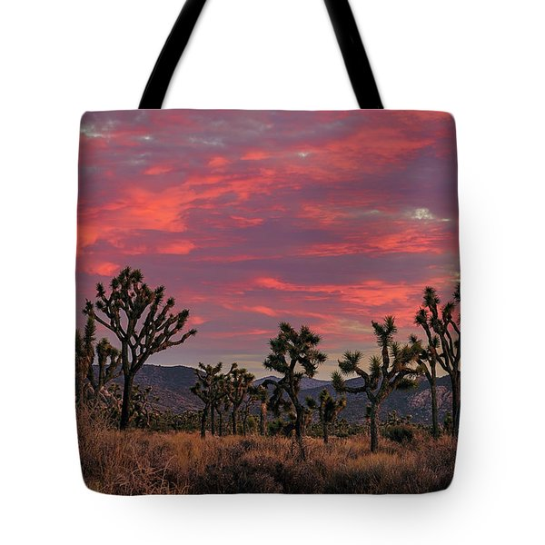 Red Sky Over Joshua Tree Tote Bag