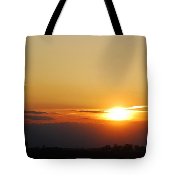 Red Sky Sunset Tote Bag