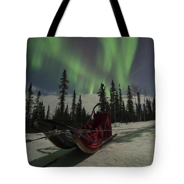 Red-sled Aurora Tote Bag