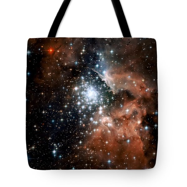Red Smoke Star Cluster Tote Bag by Jennifer Rondinelli Reilly - Fine Art Photography