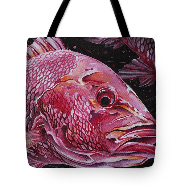 Red Snapper Tote Bag by William Love