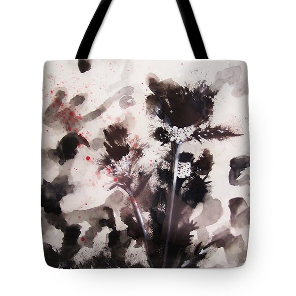Red Spatter Tote Bag