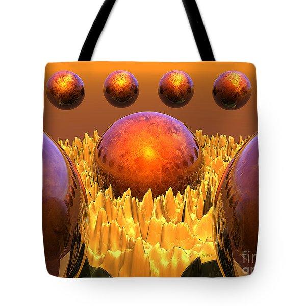 Red Spheres Tote Bag