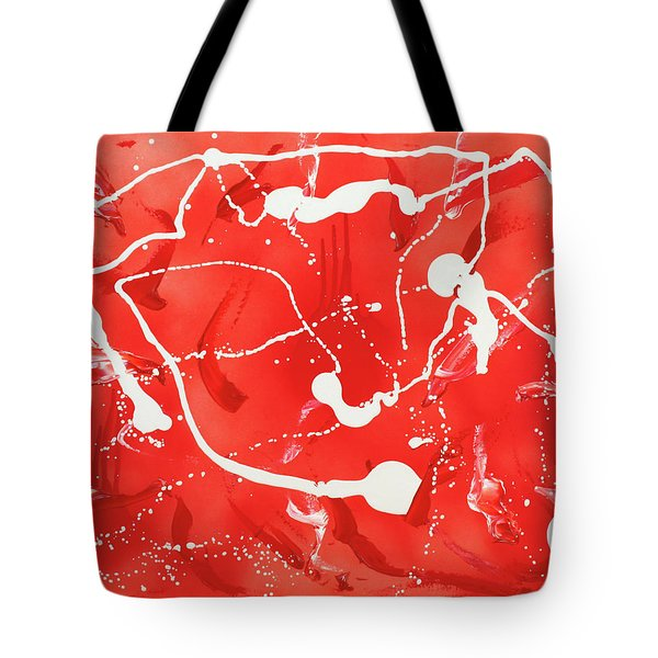 Red Spill Tote Bag