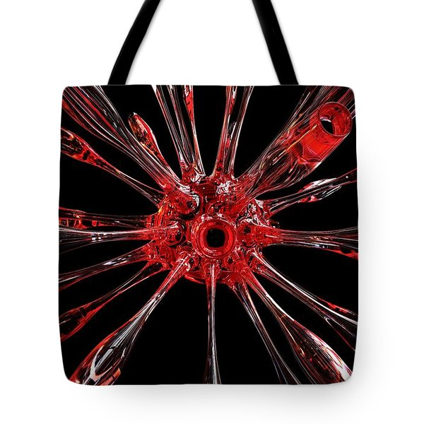 Red Spires Of Glass Tote Bag