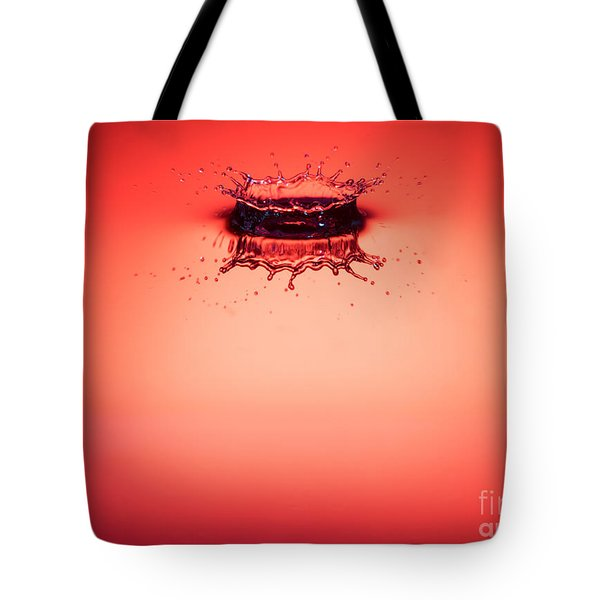 Red Splashdown 2 Tote Bag