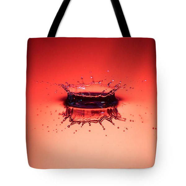 Red Splashdown Tote Bag