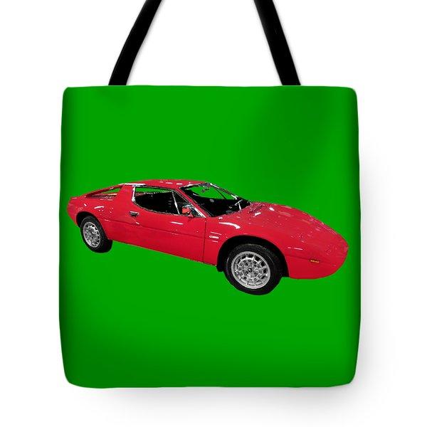 Red Sport Car Art Tote Bag