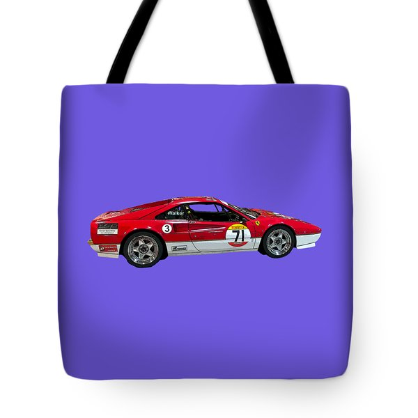 Red Sports Racer Art Tote Bag