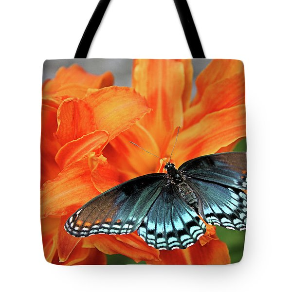 Tote Bag featuring the photograph Red Spotted Fritillary by Kristin Elmquist