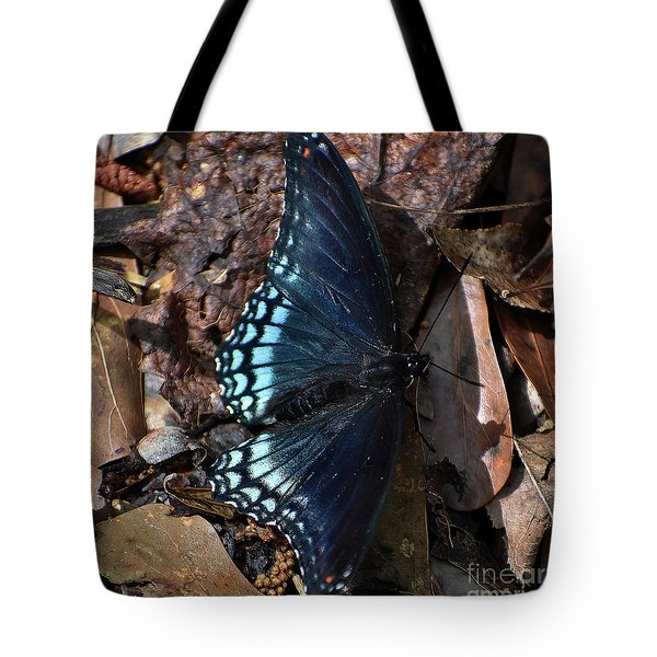 Tote Bag featuring the photograph Red Spotted Purple Admiral by Skip Willits