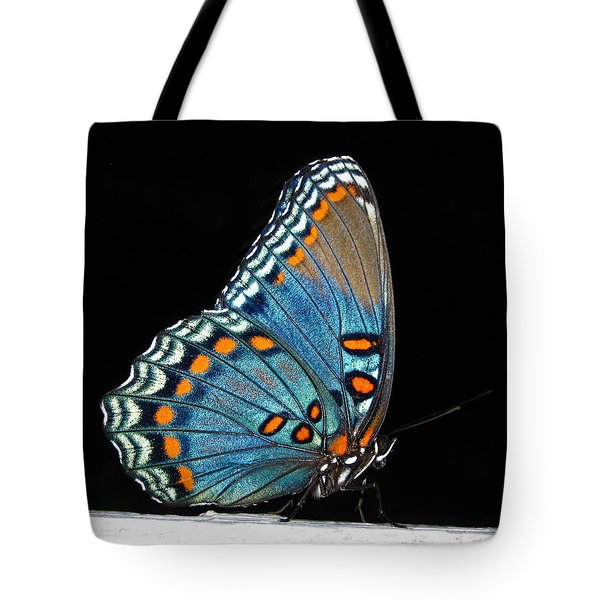 Tote Bag featuring the photograph Red Spotted Purple  by Lara Ellis